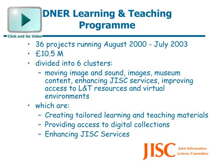 36 projects running August 2000 - July 2003