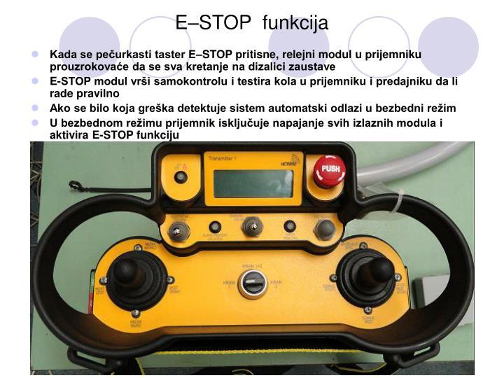 E–STOP