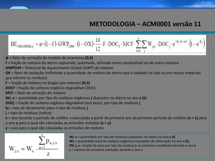 METODOLOGIA – ACM0001 versão 11