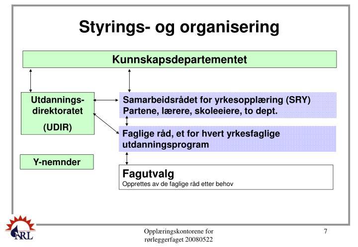 Styrings- og organisering