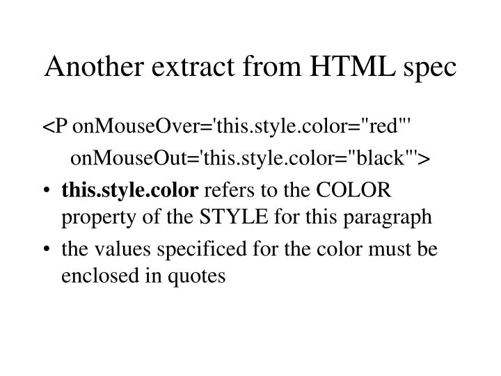 Another extract from HTML spec