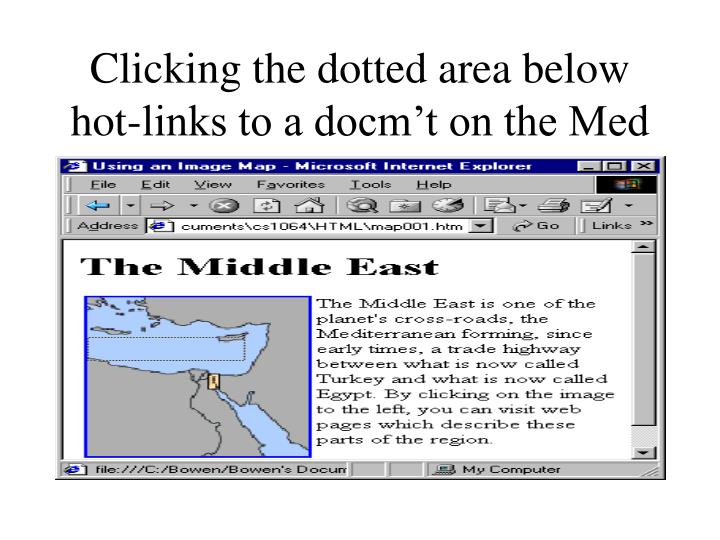 Clicking the dotted area below hot-links to a docm't on the Med