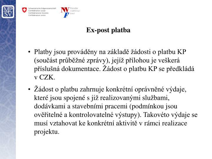 Ex-post platba