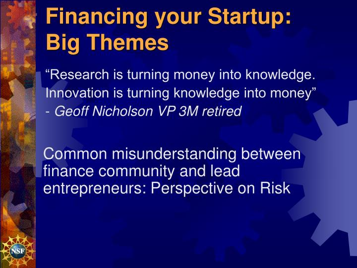 Financing your Startup: