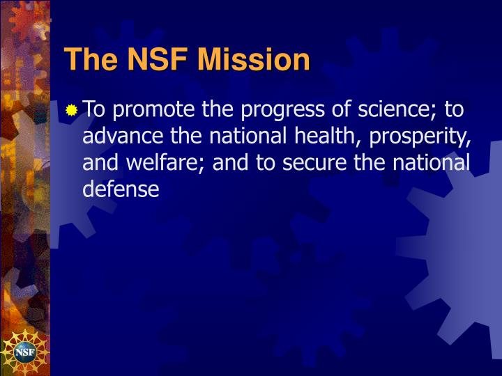 The NSF Mission