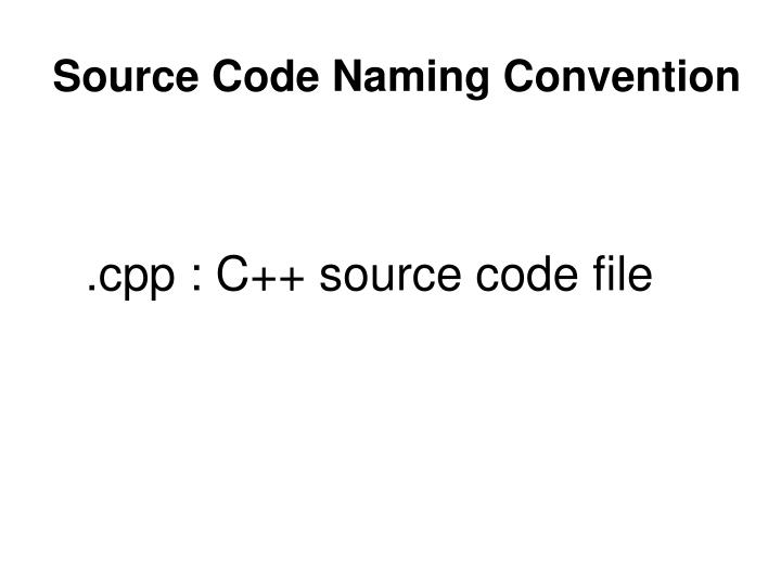 Source Code Naming Convention