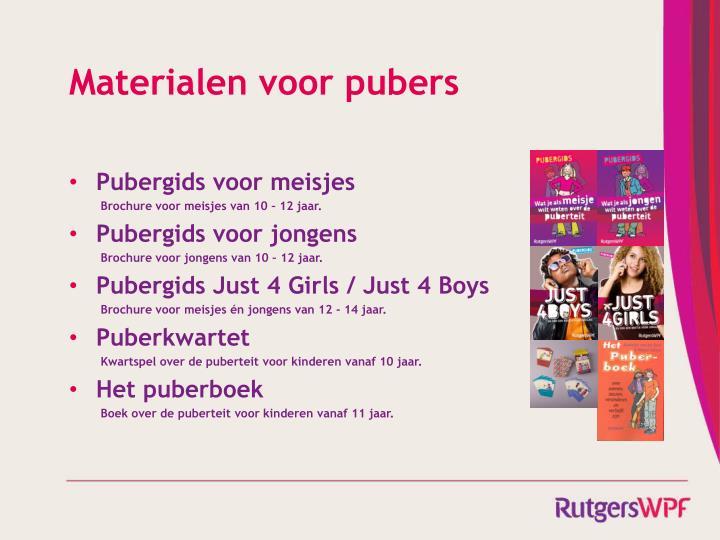 Materialen voor pubers
