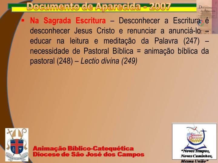 Na Sagrada Escritura
