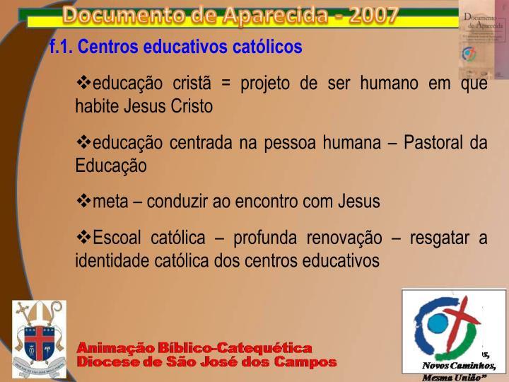 f.1. Centros educativos católicos