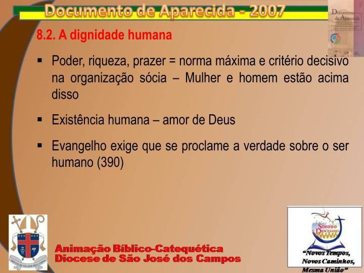 8.2. A dignidade humana