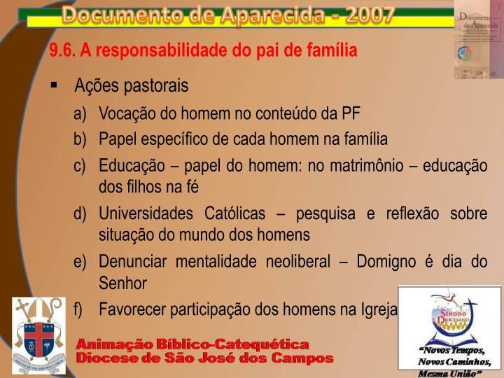9.6. A responsabilidade do pai de família