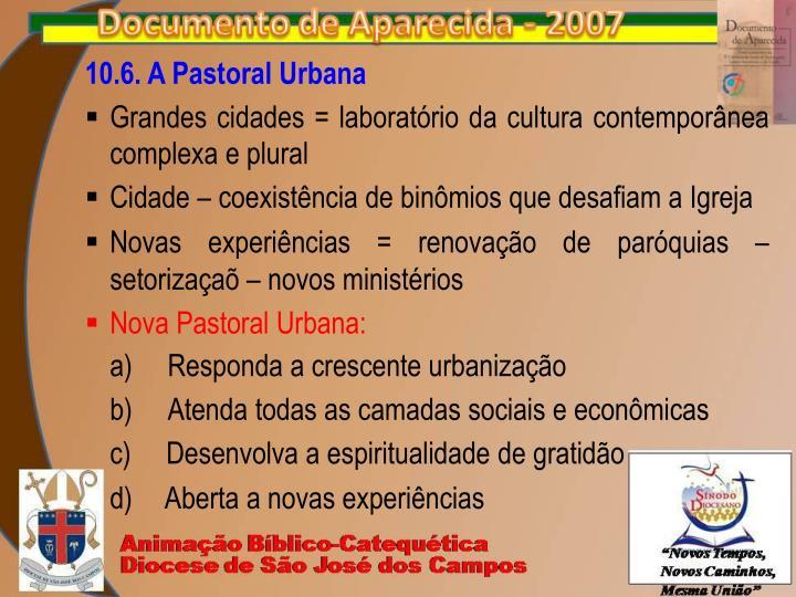 10.6. A Pastoral Urbana