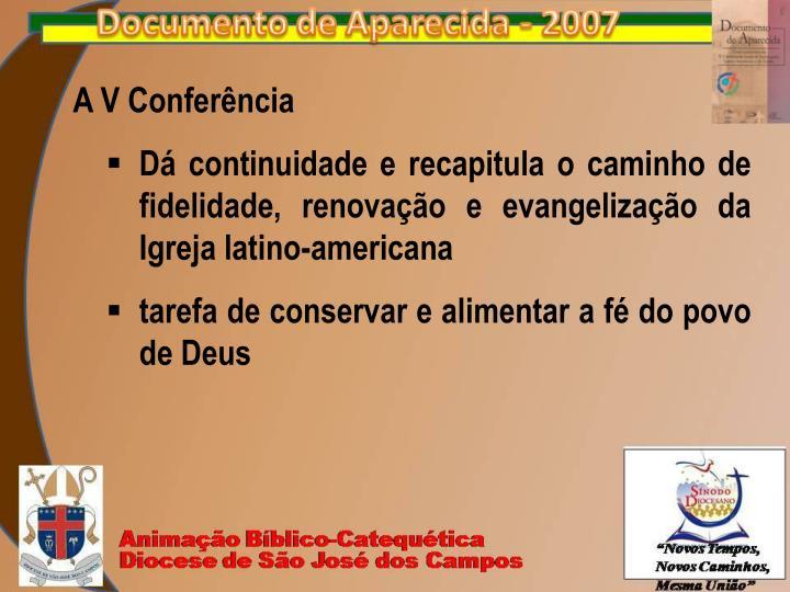 A V Conferência