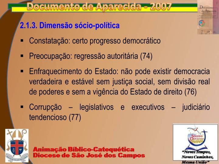 2.1.3. Dimensão sócio-política