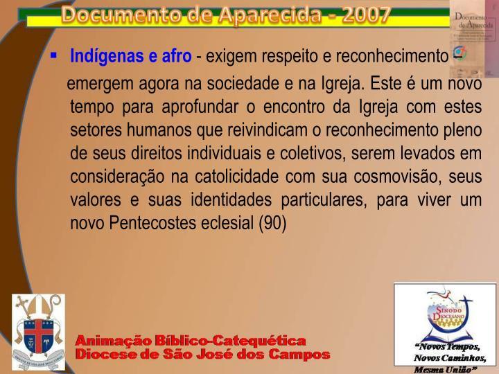 Indígenas e afro