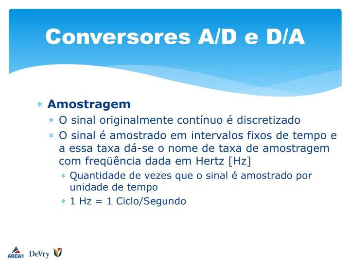 Conversores A/D e D/A
