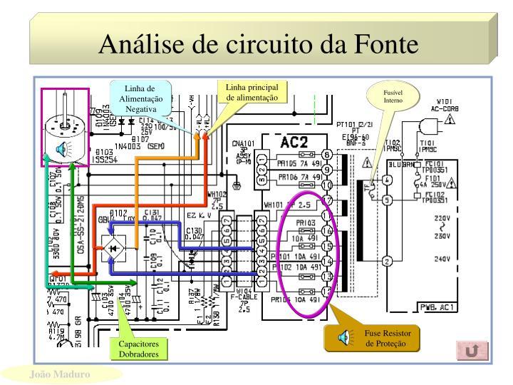 Análise de circuito da Fonte