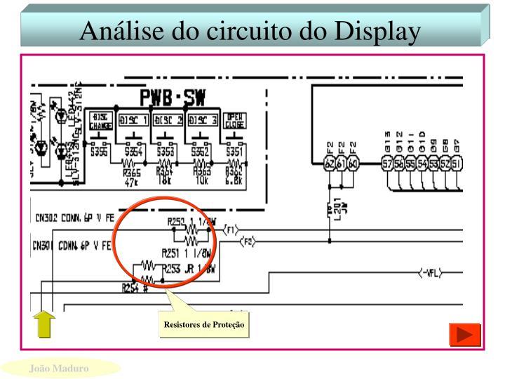 Análise do circuito do Display