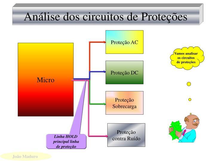 Análise dos circuitos de Proteções