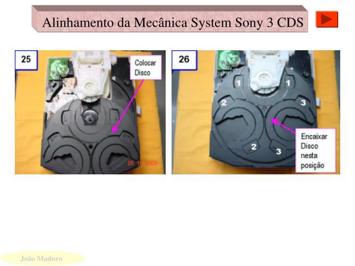 Alinhamento da Mecânica System Sony 3 CDS