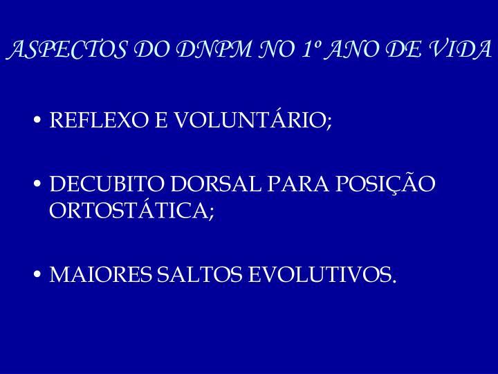 ASPECTOS DO DNPM NO 1º ANO DE VIDA