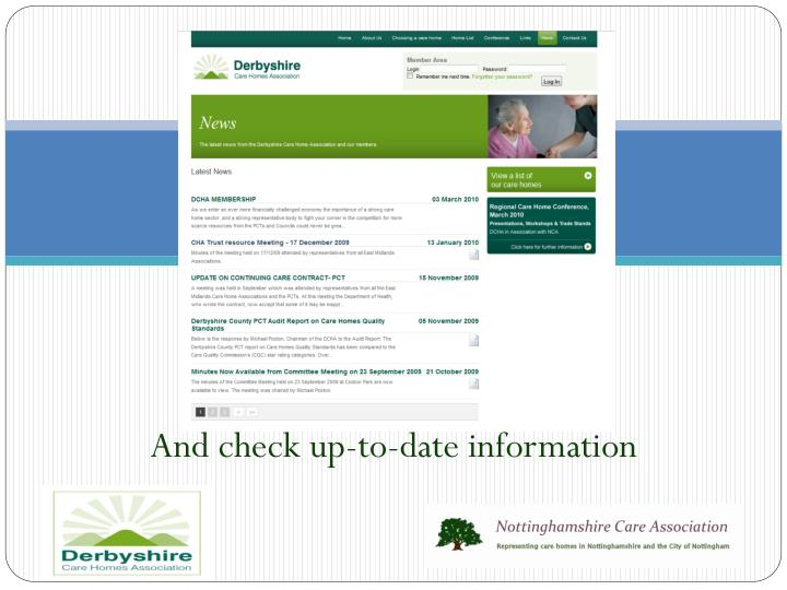 And check up-to-date information