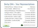 derby cha your representatives
