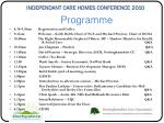 independant care homes conference 20102