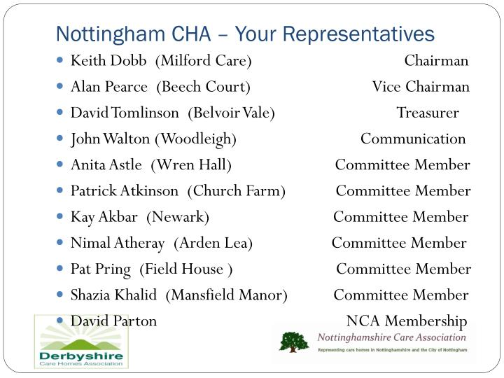 Nottingham CHA – Your Representatives
