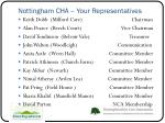 nottingham cha your representatives