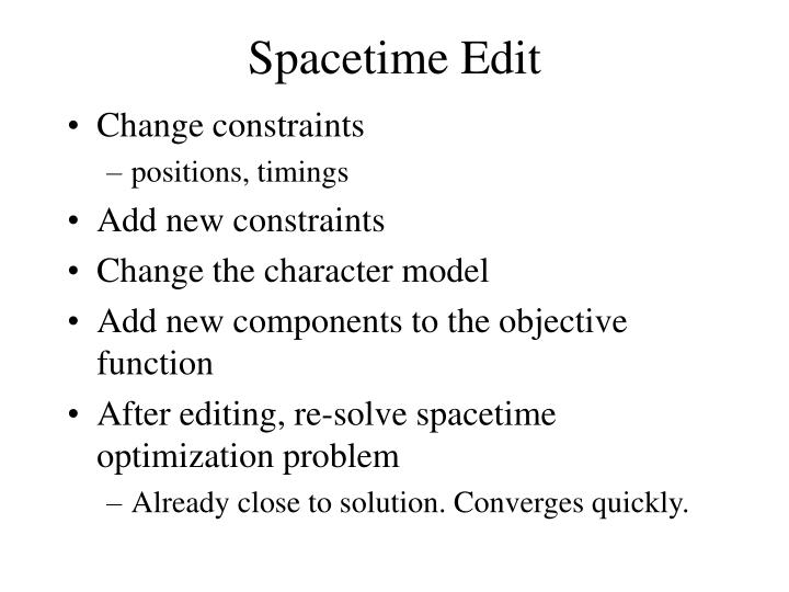 Spacetime Edit