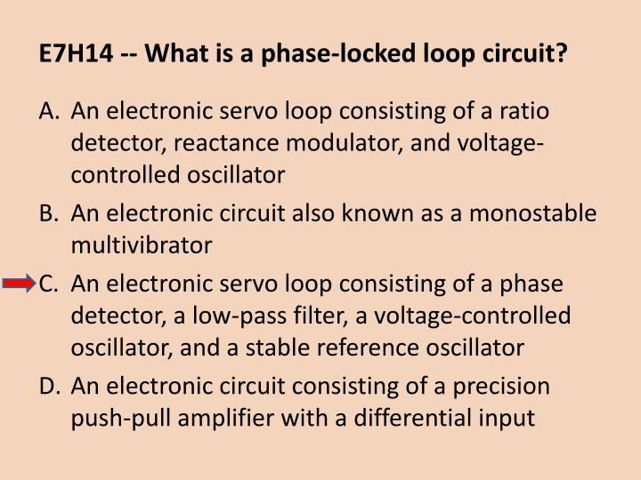 E7H14 -- What is a phase-locked loop circuit?