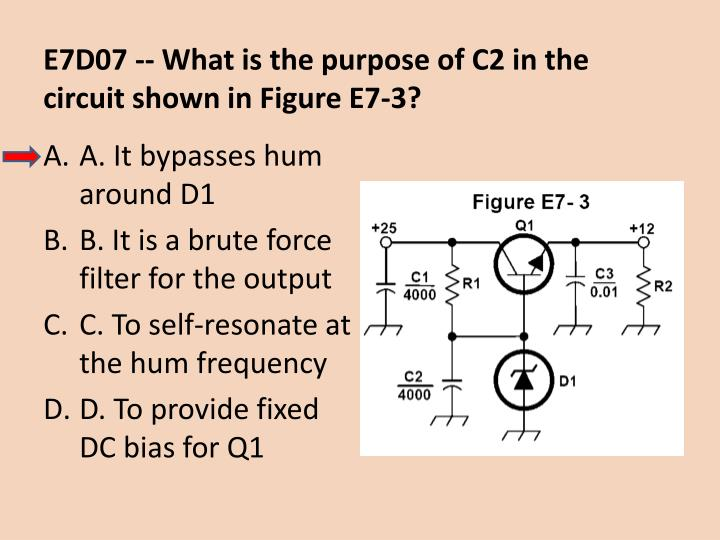 E7D07 -- What is the purpose of C2 in the circuit shown in Figure E7-3?