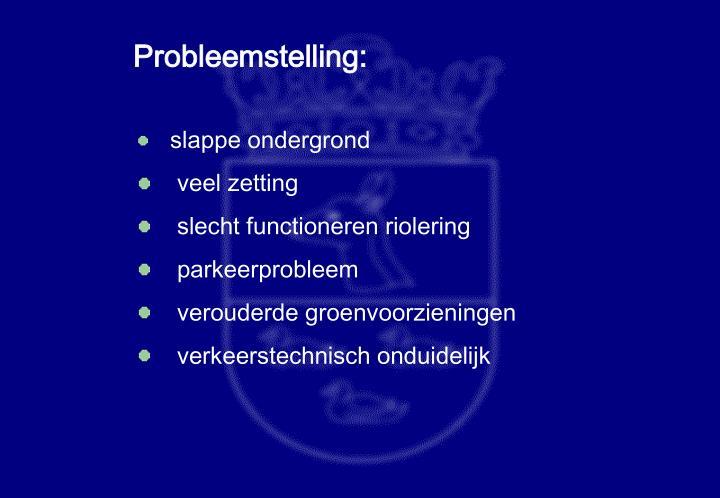 Probleemstelling: