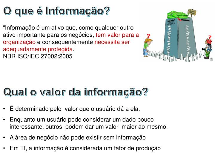 O que é Informação?