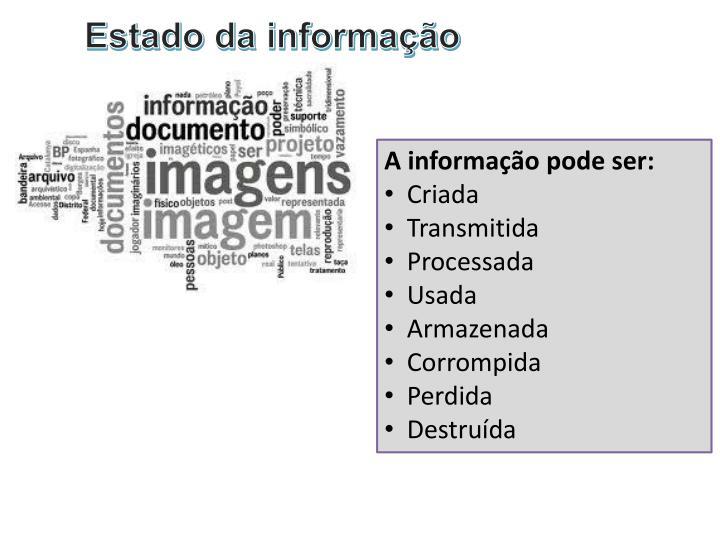 Estado da informação