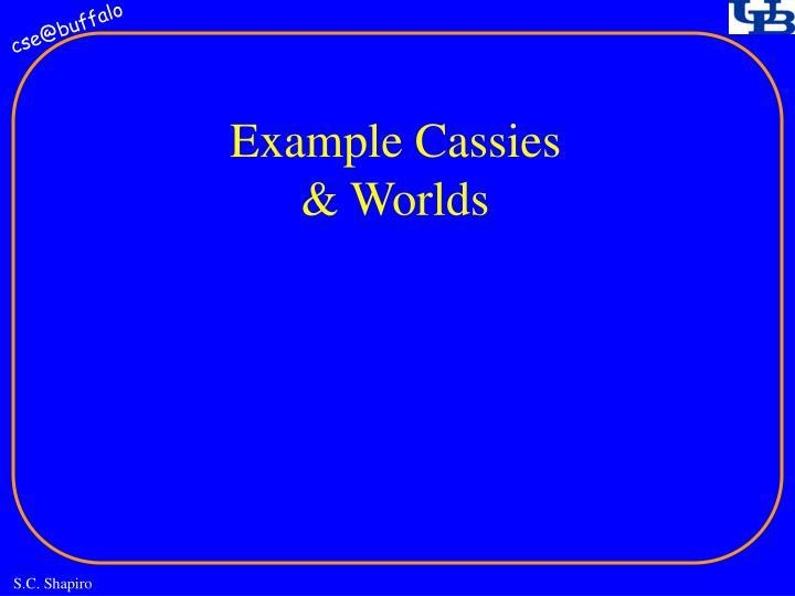 Example Cassies