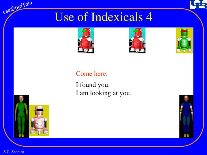 Use of Indexicals 4