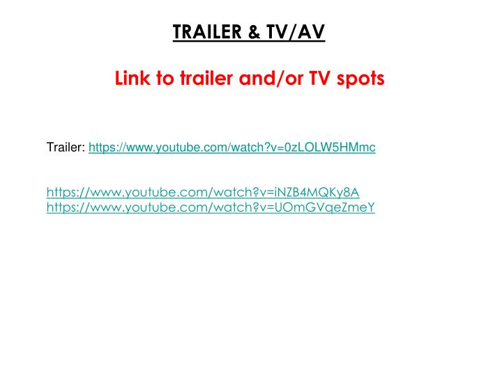 TRAILER & TV/AV