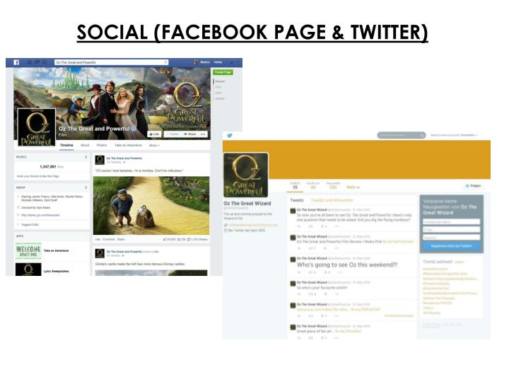 SOCIAL (FACEBOOK PAGE & TWITTER)