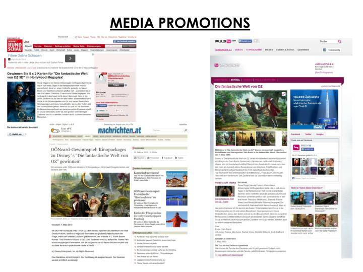 MEDIA PROMOTIONS