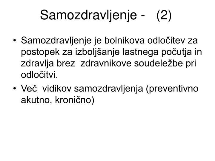 Samozdravljenje -   (2)