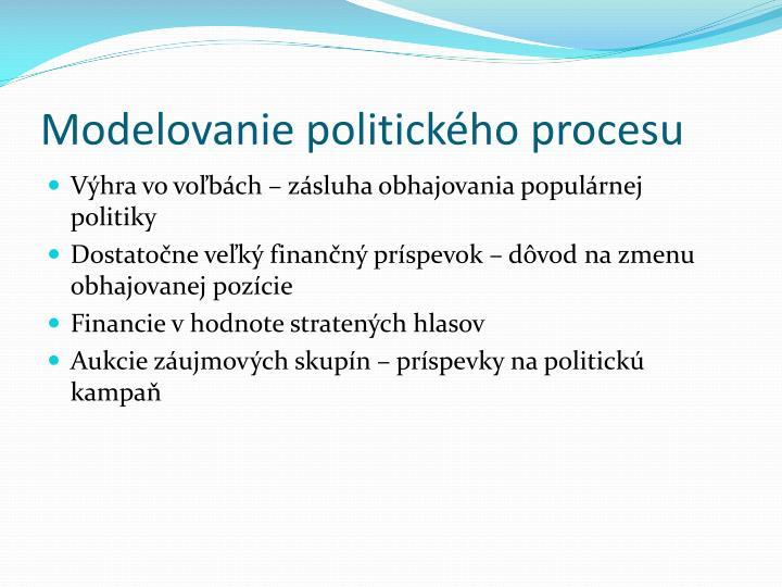 Modelovanie politického procesu