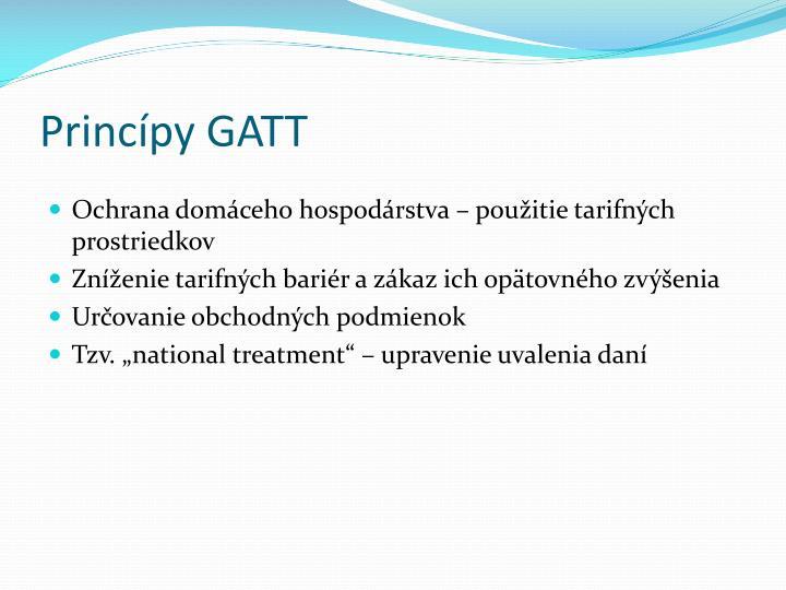 Princípy GATT