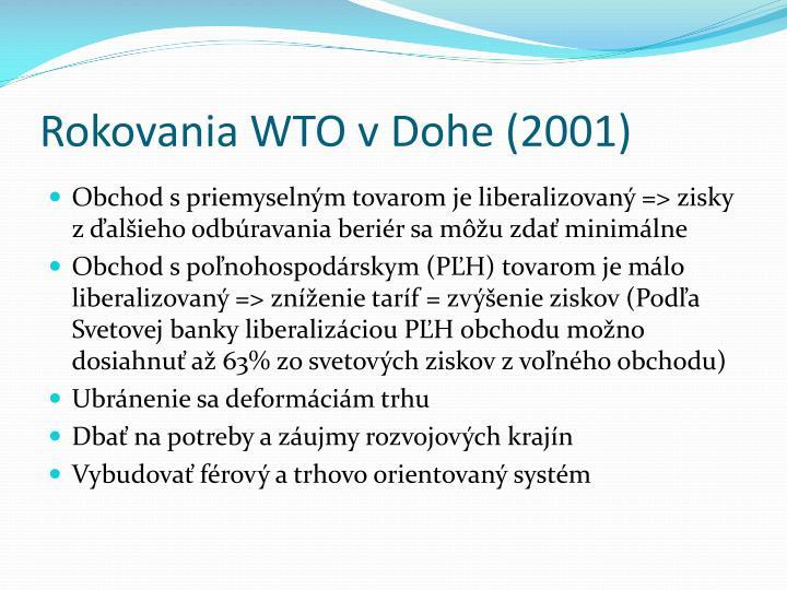 Rokovania WTO v Dohe (2001)