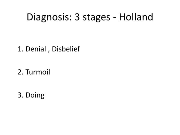 Diagnosis: 3 stages - Holland