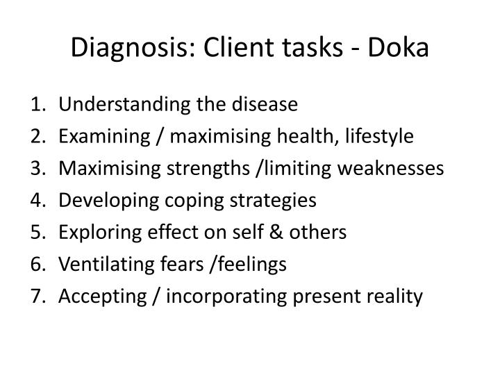 Diagnosis: Client tasks - Doka