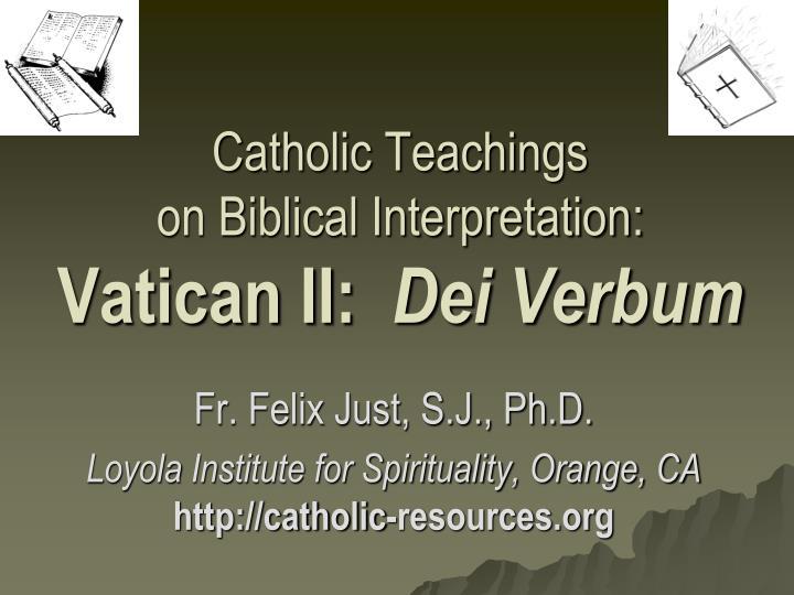 Summary of Dei Verbum - piercedhearts.org