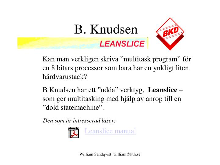 B. Knudsen
