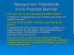 neosporosis k peklerde klinik patolojik belirtiler